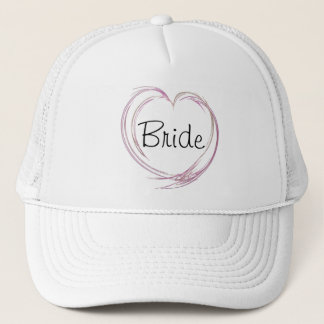Het roze Abstracte Huwelijk van de Bruid van het Trucker Pet