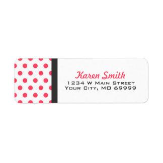 Het roze Adresetiket van Stippen Etiket