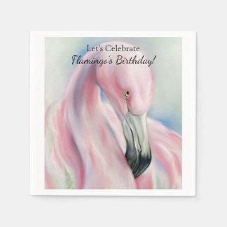 Het roze Art. van de Pastelkleur van de Flamingo Papieren Servetten