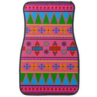 Het roze Azteekse stammenpatroon van de regenboog Auto Vloermat