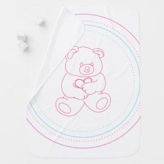 Het roze Baby draagt - Meisje Inbakerdoek
