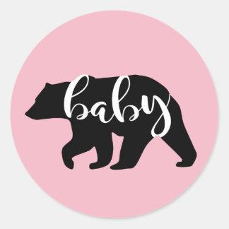 Het roze Baby draagt Ronde Sticker