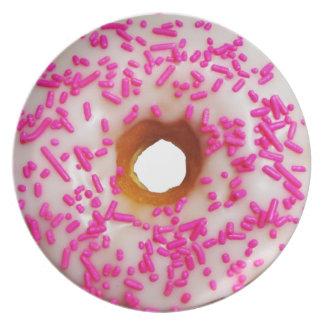 Het roze bestrooit Donuts Melamine+bord