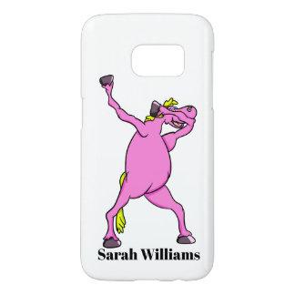Het roze Betten van het Paard Samsung Galaxy S7 Hoesje