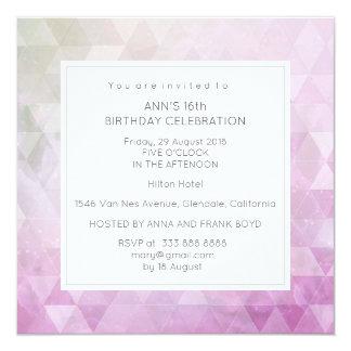 Het roze Blauw van de Partij van de Verjaardag van Kaart