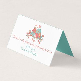 Het Roze & Blauwgroene Turkooise Huwelijk van Plaatskaart