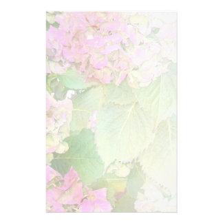 Het roze Bleke Mengsel van Hydrangea hortensia's Briefpapier