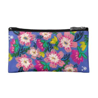 Het roze bloeit Kosmetische Zak Make-up Bag