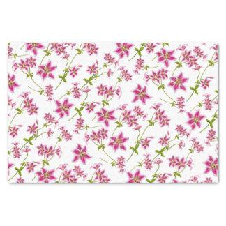 Het roze BloemenPapieren zakdoekje van de Lelie Tissuepapier