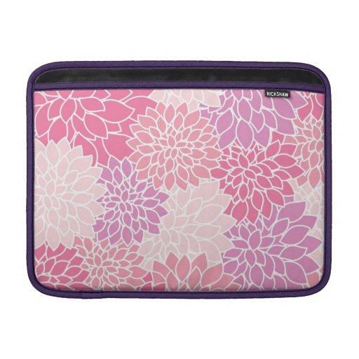 Het roze BloemenSleeve van de Lucht van Macbook MacBook Sleeves