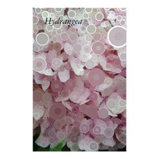 Het roze bloost de Bloesem van de Hydrangea Briefpapier