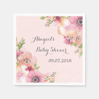 Het roze bloost Servetten van het Baby shower van Papieren Servet