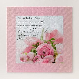 Het Roze Boeket van de pastelkleur van het Vers Legpuzzel