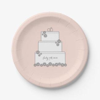 Het roze Bord van de Ontvangst van het Dessert van