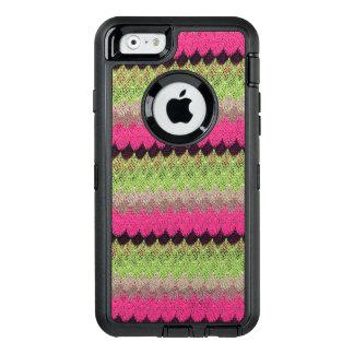 Het roze breit Groene Zwarte Golf haakt Gebreid OtterBox Defender iPhone Hoesje