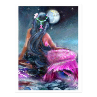 Het roze Briefkaart van de Meermin van het Lint