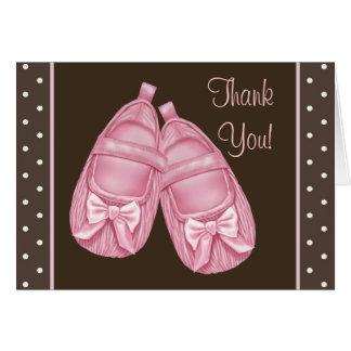 Het roze Bruine Baby shower dankt u Kaarten