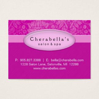 Het Roze Damast van de salon Gift Card Certificate Visitekaartjes