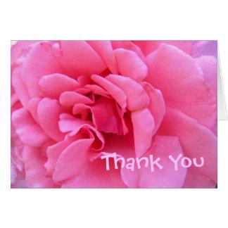 Het roze dankt u kaardt briefkaarten 0
