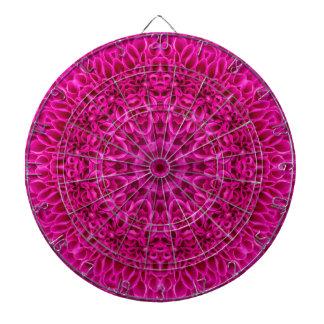 Het roze Dartboard van de Kooi van het Metaal van Dartbord