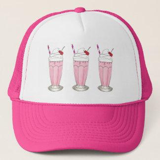 Het roze Dessert van de Milkshake van de Schok van Trucker Pet