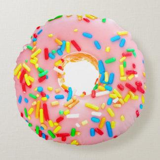 Het Roze die van de doughnut Blauw Geel Rood Rond Kussen