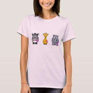 Het roze dierlijke ontwerp van het Lint T Shirt