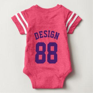 Het Roze & Donkere Paarse Baby | Sporten Jersey Romper