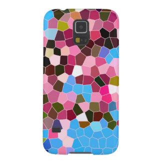 Het Roze Donkergroene Blauwe Mozaïek van het Galaxy S5 Hoesje
