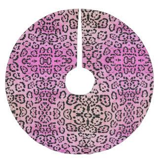 Het roze Effect van de Olieverf van de Kat van de Kerstboom Rok