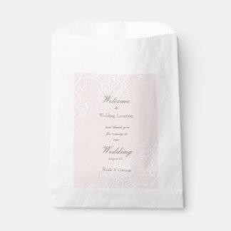 Het roze Elegante Vintage Elegante Huwelijk van Bedankzakje