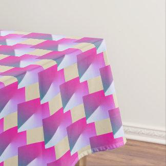 Het roze en beige geometrische tafelkleed van