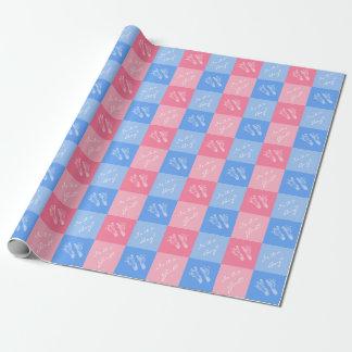 Het roze en Blauwe Geslacht van het Baby van Inpakpapier