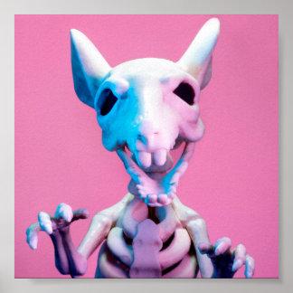 Het roze en Blauwe Poster van het Skelet van de