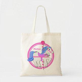 Het Roze en het Blauw van het Pony van de carrouse Draagtas