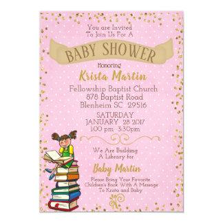 Het roze en het Goud brengen een Baby shower van Kaart