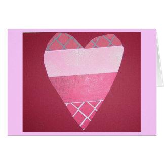 Het Roze en het Rood van de Valentijnsdag Briefkaarten 0