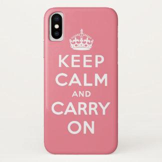 Het roze en het wit houden kalm en dragen iPhone x hoesje