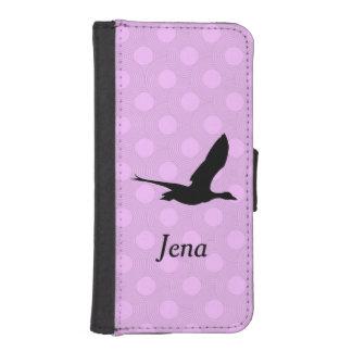 Het roze en Paarse Hoesje van de Telefoon van de iPhone 5 Portemonnee Cases