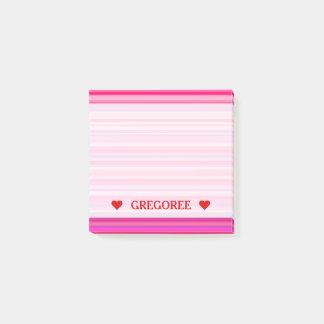Het Roze en Paarse van Strepen Girly Patroon van Post-it® Notes