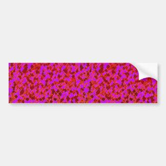 Het roze en Rode Grafische Ontwerp van de Kunst Bumpersticker