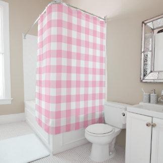 Het roze en Witte Gordijn van de Douche van de