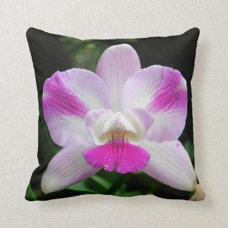 Het roze en Witte Hoofdkussen van de Orchidee Sierkussen