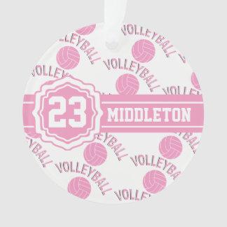 Het roze en Witte Ontwerp van het Volleyball Ornament