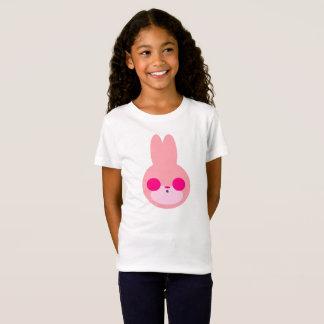 Het roze en Witte Overhemd van het Konijntje T Shirt