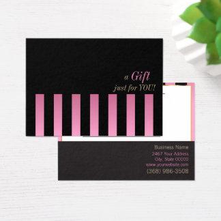 Het roze en Zwarte Certificaat van de Gift van de Visitekaartjes