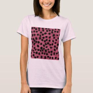 Het roze en Zwarte Patroon van de Druk van de T Shirt