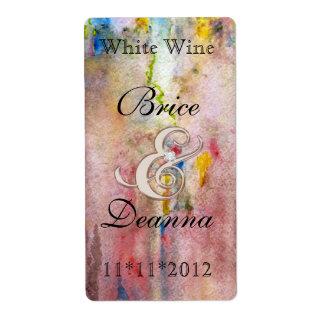 Het roze Etiket van de Wijn van het Huwelijk van C