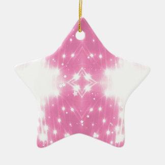 Het roze Fonkelen Kaleidosope Keramisch Ster Ornament