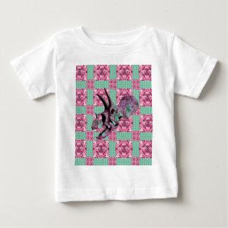 Het roze Geometrische Patroon van de Schedel van Baby T Shirts